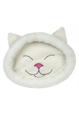 Katteseng hvit - smilende katt