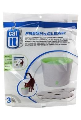 3PK FILTER TIL CATIT FRESH & CLEAR 3L