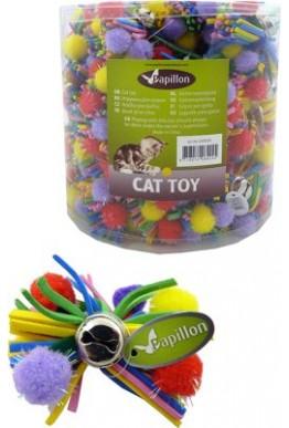 Katteleke Papillon pompom og bjelle