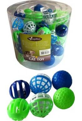 Katteleke plastball med bjelle 4 cm