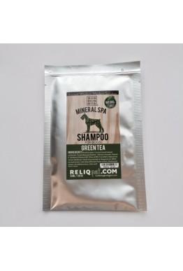 Reliq mineralshampo prøvepose 50 ml grønn te
