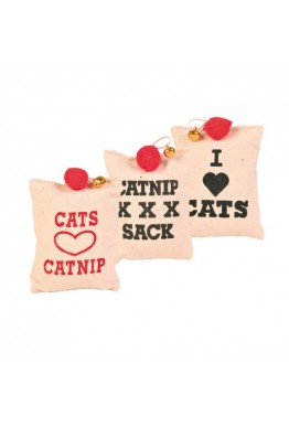 Katteleke catnip pute med bjelle