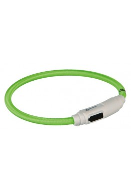 Trixie Lysende Bånd USB 35 cm grønn